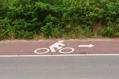 Cykla vägmärket arkivbild