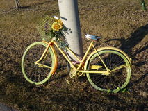 cykla yellow Arkivbilder