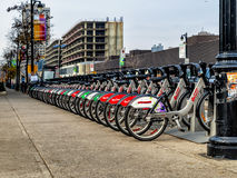 cyklar bixien montreal Arkivfoton