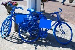 cyklar bluen Royaltyfri Fotografi