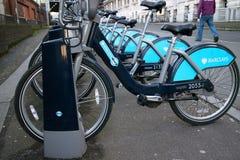 cyklar för hyra Royaltyfri Fotografi