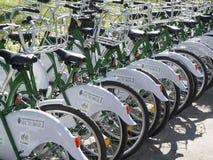 Cyklar för hyra Royaltyfria Foton