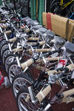 cyklar försäljning Arkivfoto