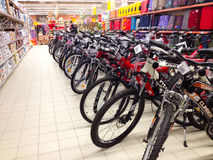 cyklar försäljning Royaltyfri Fotografi