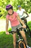cyklar familjen Royaltyfri Bild