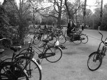 Cyklar i Amsterdam Arkivfoto