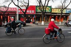 Cyklar i Kina Arkivbilder