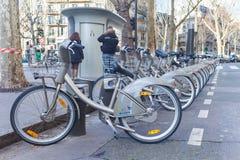 Cyklar i raden royaltyfri bild