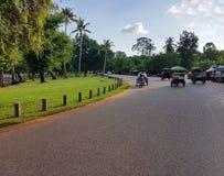 Cyklar lokalen i Thailand arkivbild