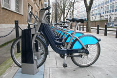 cyklar london Royaltyfria Foton
