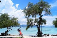 Cyklar på stranden Arkivbilder