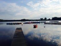 Cyklar på vattnet Arkivbilder