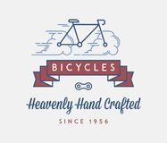 Cyklar räcker tillverkat med förälskelse royaltyfri illustrationer