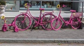 Cyklar rosa färger Royaltyfri Foto