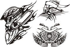 cyklar stam- stock illustrationer