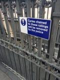 Cykle będą usuwającym znakiem zdjęcie royalty free