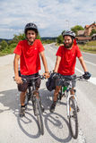 Cykliści Zdjęcia Stock