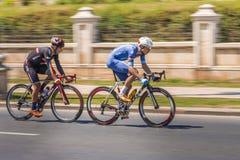 Cykliści biec sprintem podczas rasy Zdjęcie Royalty Free