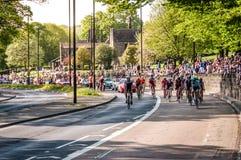Cykliści w wycieczce turysycznej de Yorkshire 2018 Zdjęcie Stock