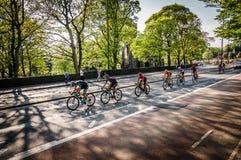 Cykliści w wycieczce turysycznej de Yorkshire 2018 Fotografia Royalty Free