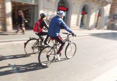 Cykliści Obraz Royalty Free