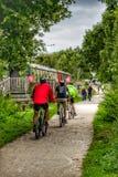 cykliści Obrazy Royalty Free