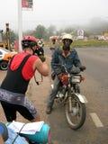 Cyklist Afrika, royaltyfria foton