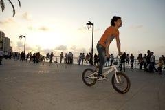 Cyklist Beirut Arkivfoto