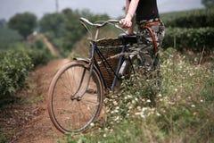 Cyklist i Vietnam Arkivbilder