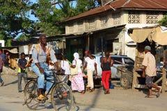 Cyklist Mombasa Arkivfoto