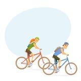 Cyklist på mountainbiket Royaltyfri Foto