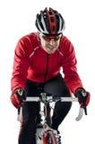 Cyklist som rider en cykel Arkivbild