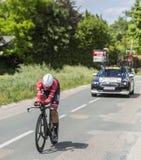 Cyklista Alberto Contador, Criterium - Du Dauphine 2017 Obrazy Stock