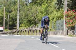 Cyklista Alejandro Valverde, Criterium - Du Dauphine 2017 Zdjęcia Royalty Free