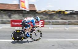 Cyklista Alex Howes fotografia royalty free