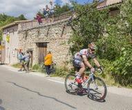 Cyklista Andre Greipel na Mont Ventoux - tour de france 2016 Zdjęcie Royalty Free