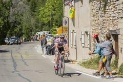 Cyklista Andre Greipel na Mont Ventoux - tour de france 2016 Obrazy Stock