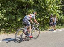 Cyklista Andre Greipel na Mont Ventoux - tour de france 2016 Fotografia Royalty Free