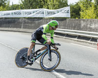 Cyklista Bauke Mollema - tour de france 2014 Obraz Stock