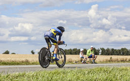Cyklista Chris Sorensen Obrazy Royalty Free