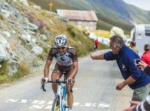 Cyklista Christophe Riblon - tour de france 2015 Zdjęcia Royalty Free