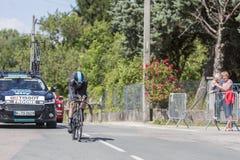 Cyklista Christopher Froome, Criterium Du Dauphine 2017 - Obraz Stock