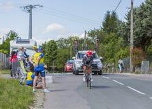 Cyklista Diego Ulissi, Criterium Du Dauphine 2017 - Zdjęcie Stock