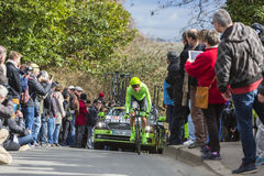 Cyklista Dylan Samochód dostawczy Baarle - ładny 2016 Obrazy Stock