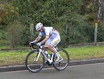Cyklista Eduard Grosu - ?adny 2019 zdjęcia royalty free