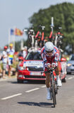 Cyklista Eduard Vorganov Zdjęcie Royalty Free