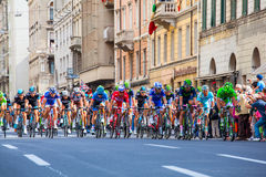 Cyklista, Giro d'Italia Zdjęcie Royalty Free