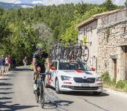 Cyklista Gorka Izagirre Insausti na Mont Ventoux - Objeżdża De Fr Obrazy Royalty Free