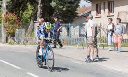 Cyklista Guillaume Martin, Criterium Du Dauphine 2017 - Zdjęcia Stock