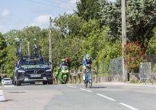 Cyklista Guillaume Martin, Criterium Du Dauphine 2017 - Zdjęcia Royalty Free